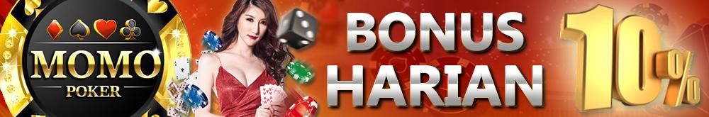 BONUS DEPOSIT HARIAN 10% Poker Online Indonesia