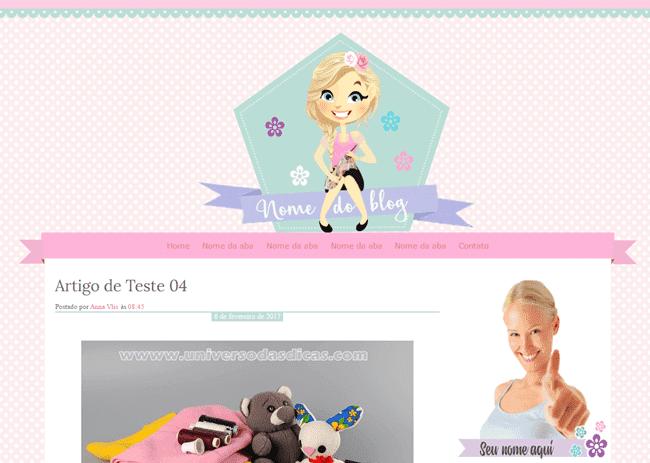 Template Feminino para Blog