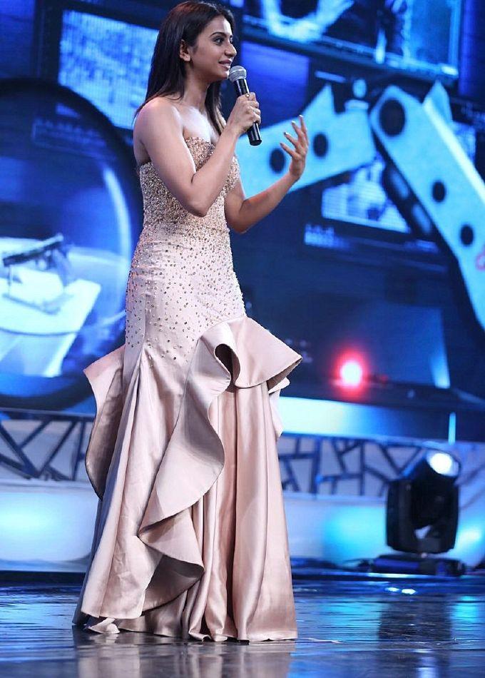 Rakul Preet Singh in pink Dress