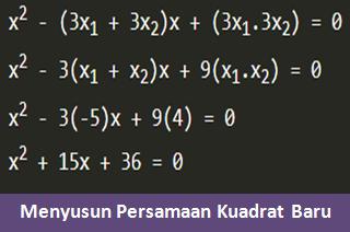 Pembahasan Soal Matematika Menyusun Persamaan Kuadrat Baru