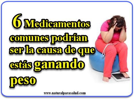 6 Medicamentos comunes podrían ser la causa de que estás ganando peso
