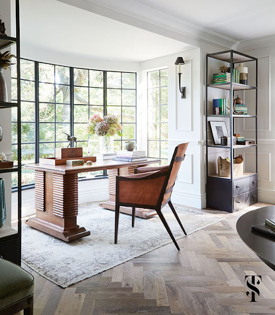 Classic Decor in French Tudor Renovation by Summer Thornton on Hello Lovely