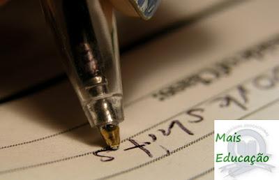 Imagem de uma caneta escrevendo