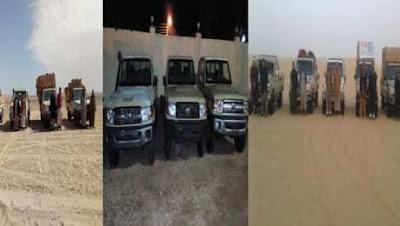عملية ناجة لـ قوات حرس الحدود .. شاهد ماذا كان بداخــل 16 عربة دفع رباعى على حدود مصــر