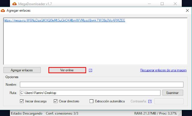 reproducir un vídeo alojado en MEGA con VLC