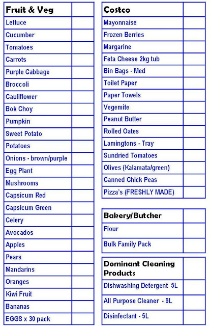 Home Food Pantry List