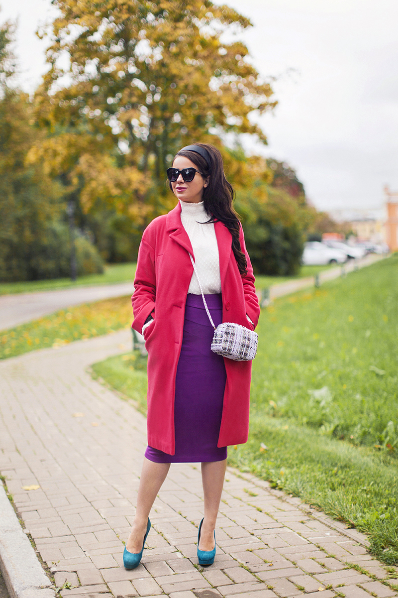 ASOS pink Coat in Cocoon Fit
