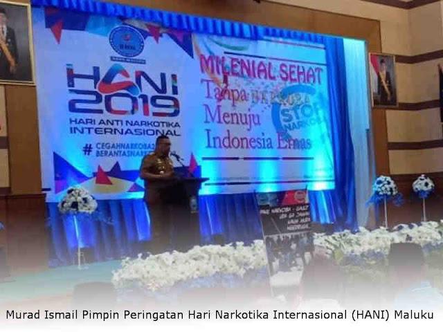 Murad Ismail Pimpin Peringatan Hari Narkotika Internasional (HANI) Maluku
