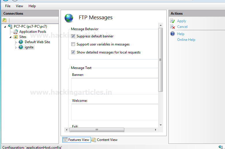 how to open ftp port in windows 7