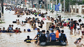 Image of Philippines Flooded Street Because of Habagat