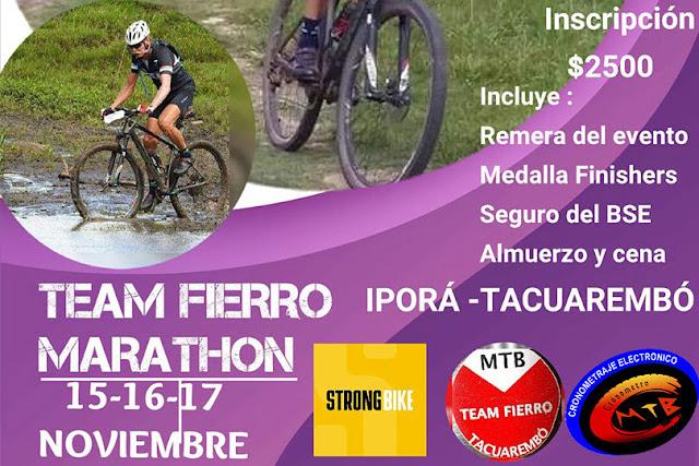 MTB - Team Fierro Marathon en Balneario Iporá (Tacuarembó, 15a17/nov/2019)