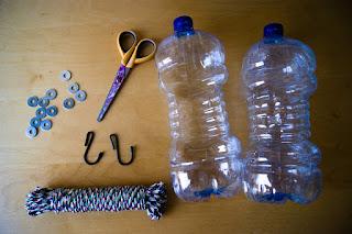 Materiales para realizar maceteros ecológicos y colgantes
