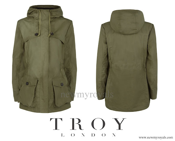 Kate Middleton wore Troy London Wax Parka - Khaki Green