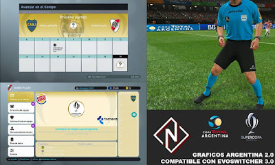PES 2019 Argentina Graphics Pack v2.0 by Nahue Facemaker