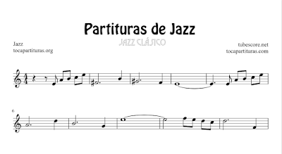 3 Partituras de Jazz All of Me de Gerald Marks y Seymour Simmons, Caravan de Juan Tizol y Duke Ellington y My Little Suede Shoes de Charlie Parker