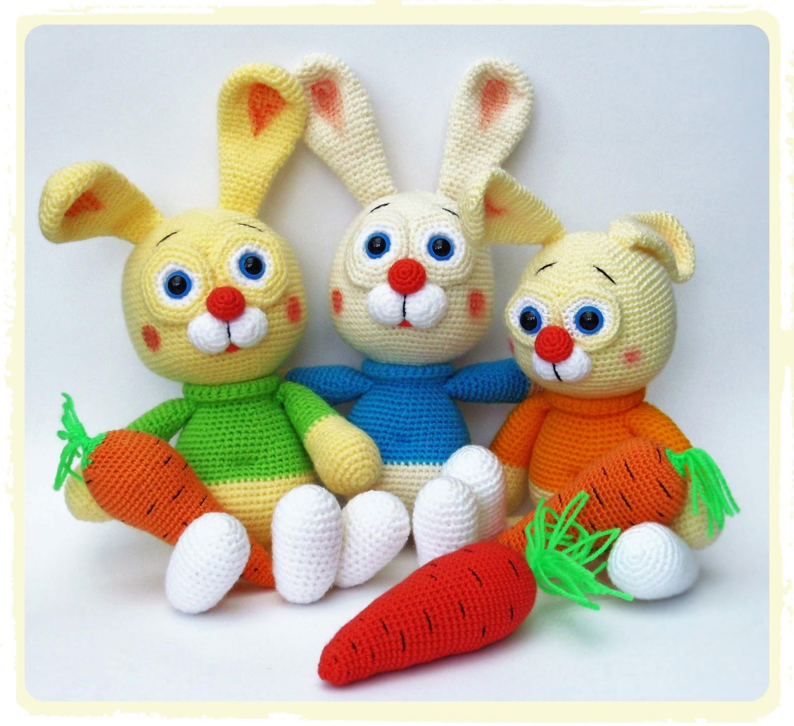 Kirju Mirju kasit??.: Amigurumi Jankud. Amigurumi Bunny.