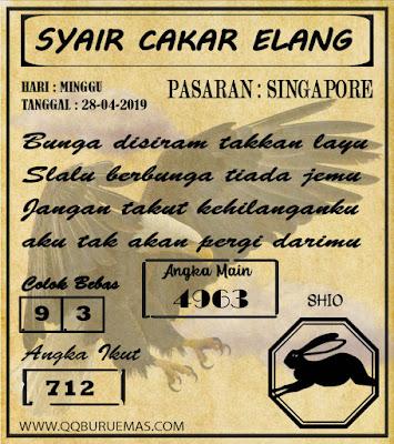 Syair SINGAPORE,28-04-2019