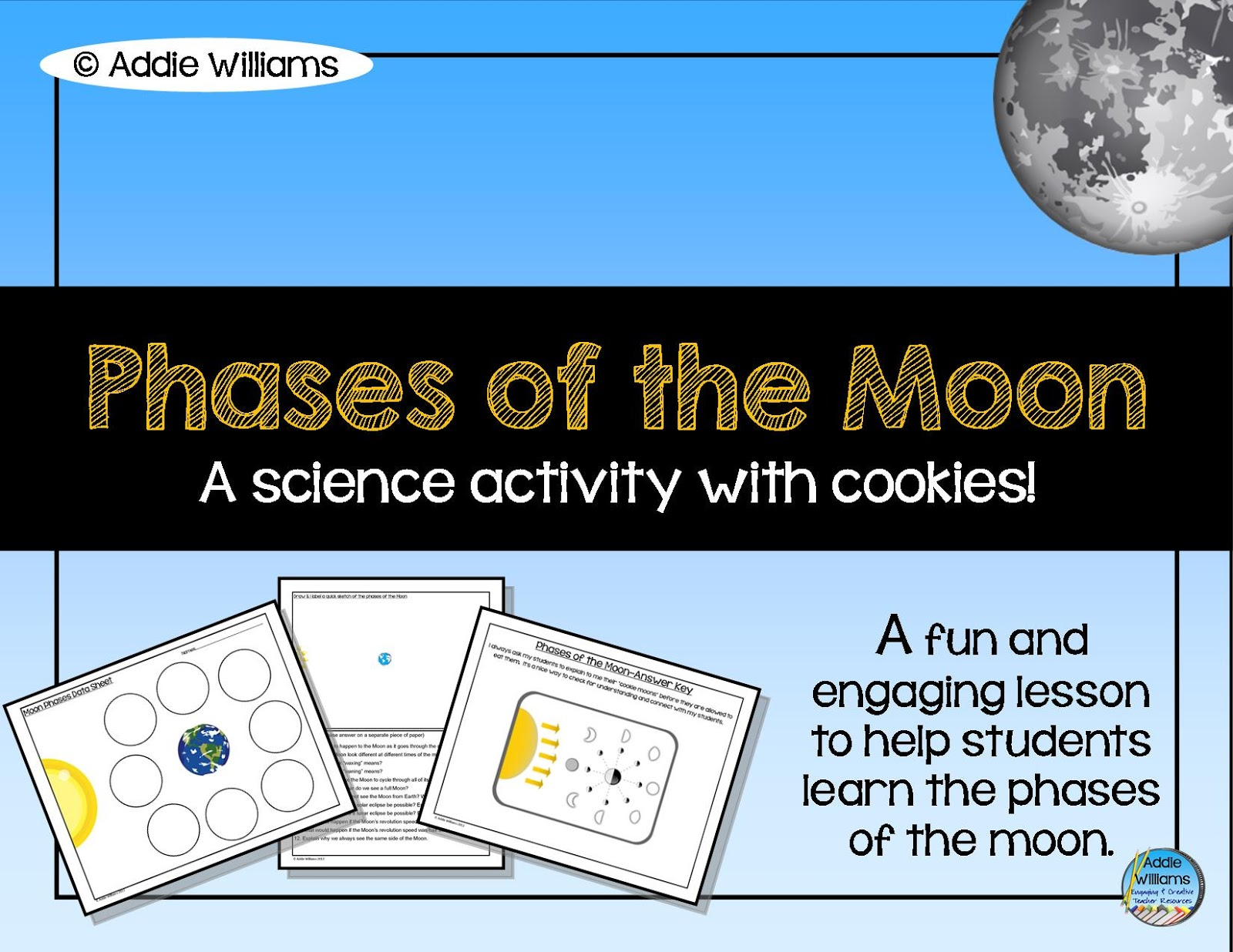 Phases Of The Moon With Cookies