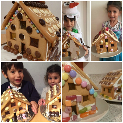 Selection of our gingerbread houses