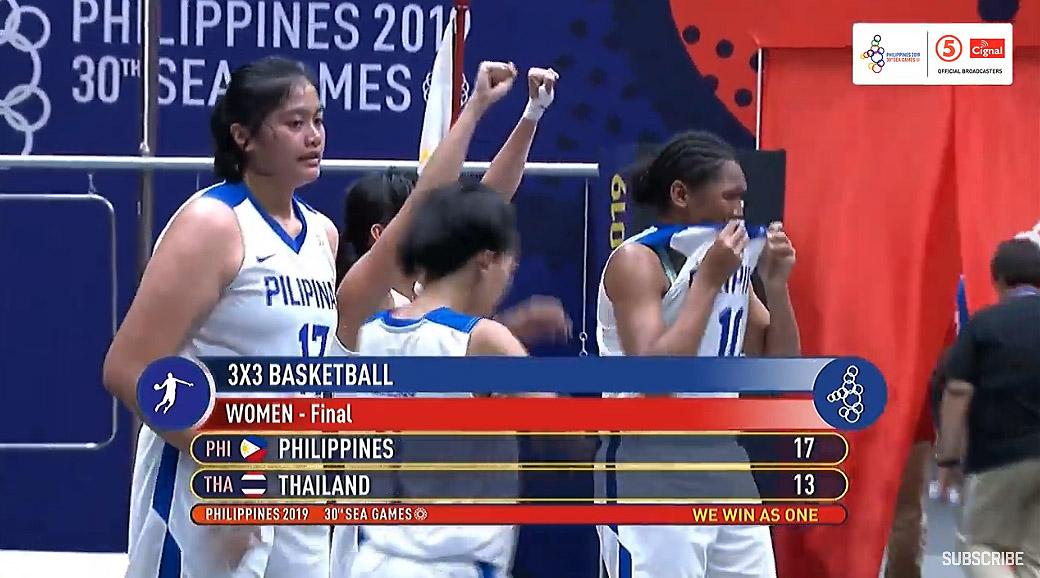 Gilas Pilipinas Women def. Thailand, 17-13 (VIDEO) Women's 3x3 Gold Medal Game   SEA Games 2019