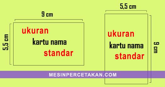 ukuran kartu nama standar