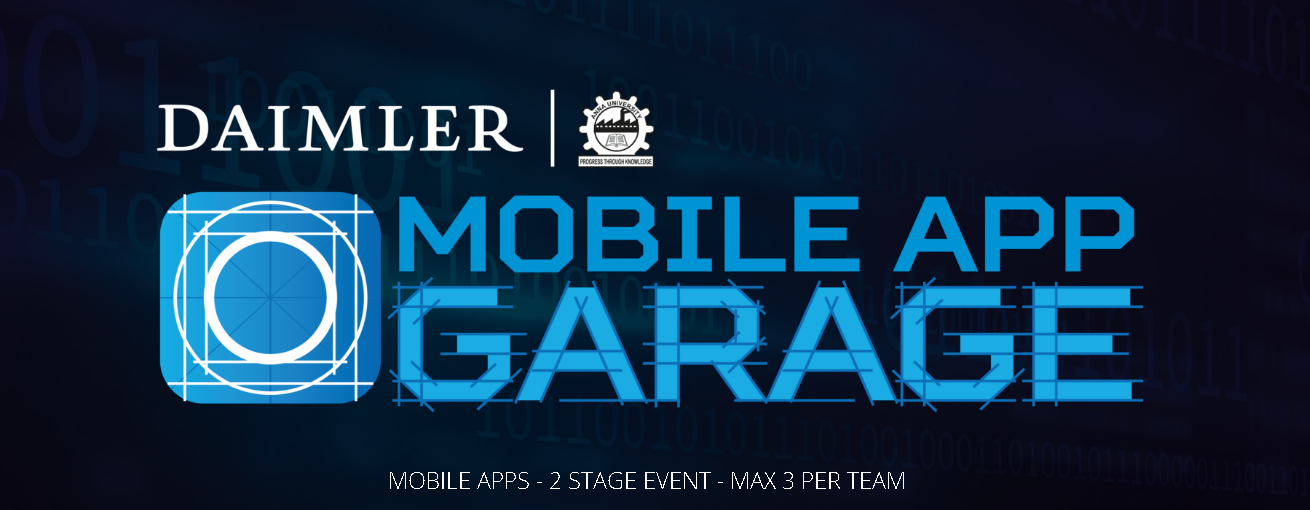 mobile app garage contest au campus daimler plant. Black Bedroom Furniture Sets. Home Design Ideas