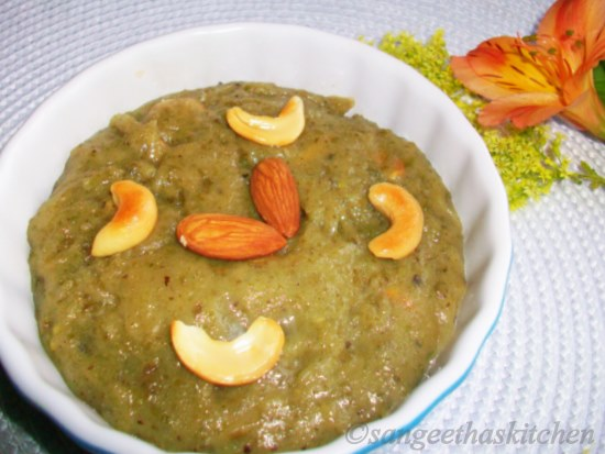 Green Moong Halwa