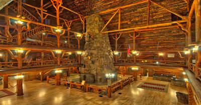 Log Rafters Lobby Old Faithful Inn Yellowstone National Park