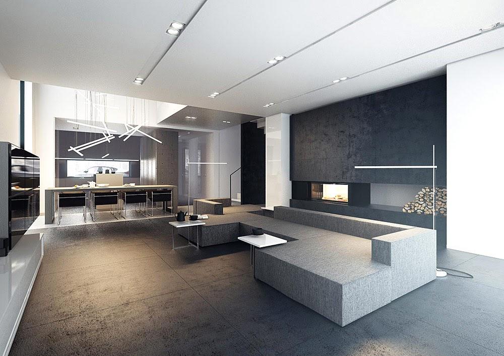 Moderniza tu hogar con l mparas de concreto el blog de ak o for Casa minimalista concepto