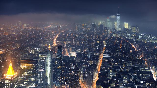 Vue de New York la Nuit - Fond d'écran en Ultra HD 4K
