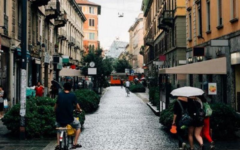 Milan, Italia, en una publicación de Instagram