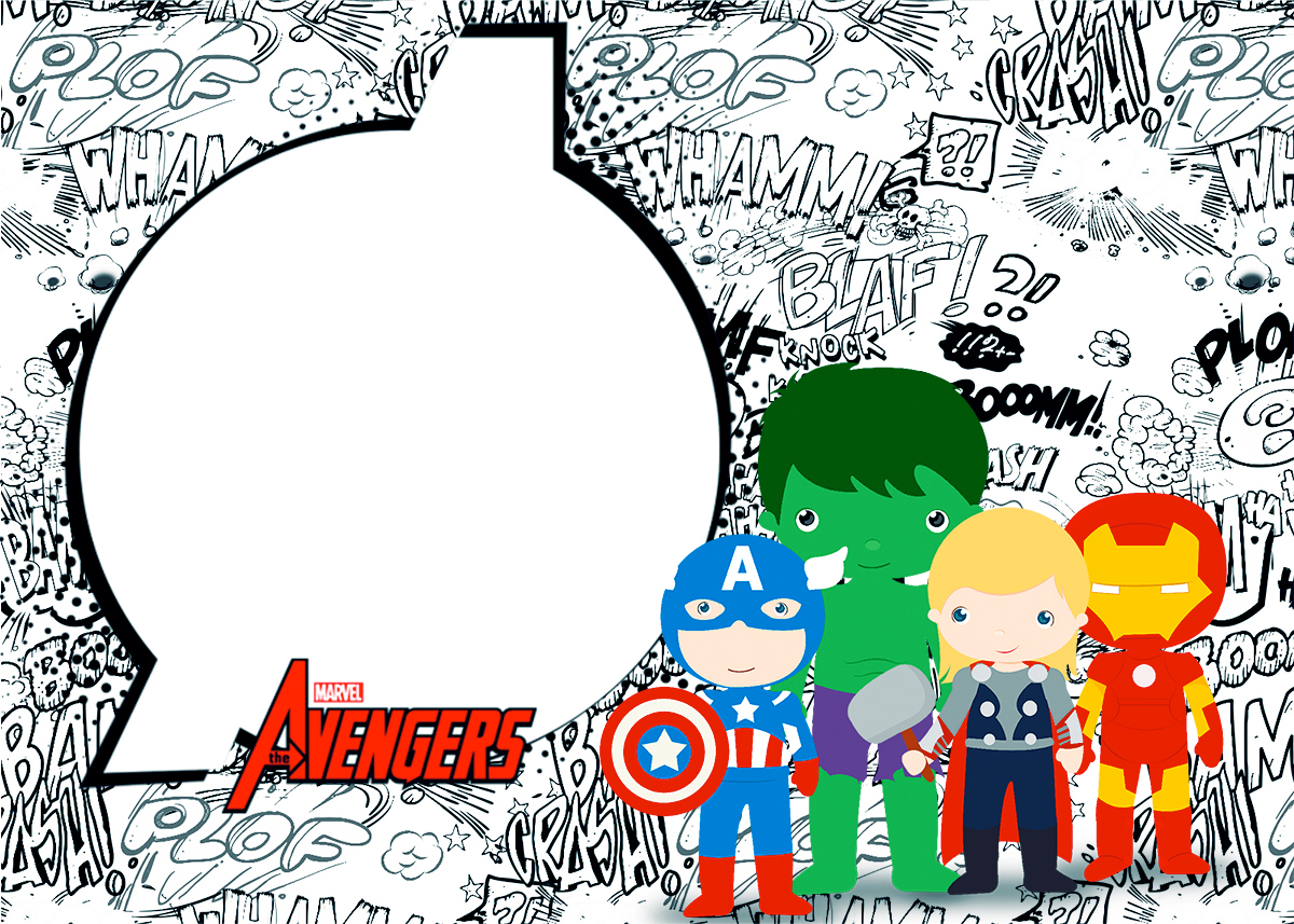 Avengers Chibi Style Free Printable Invitations Oh My