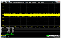 This screen capture shows an acquisition of the inherent amplifier noise of the HDO8108A