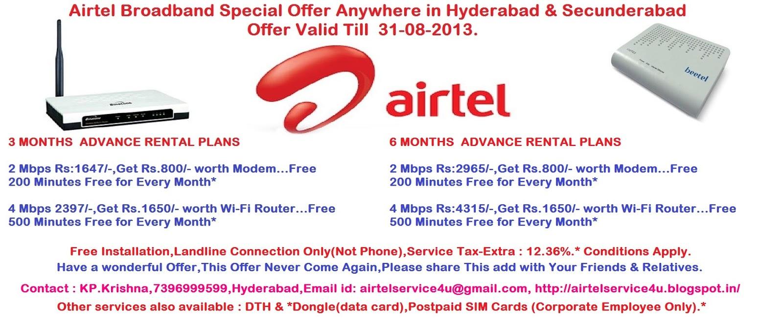 Airtel Broadband Connection Number Hyderabad - Best