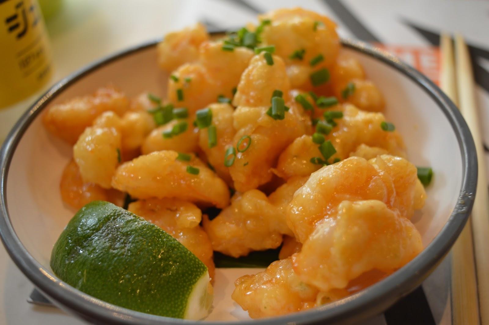 YO! Sushi Newcastle Grainger Street - Kids Menu Review - popcorn shrimp tempura