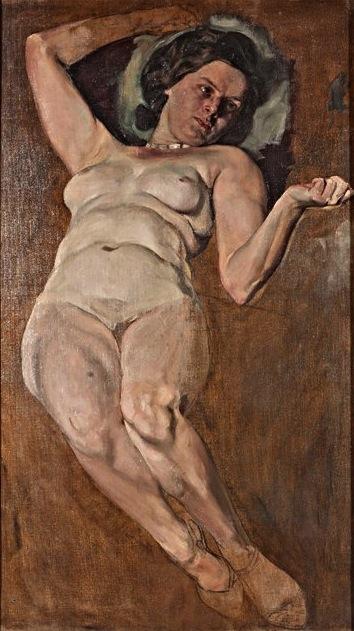 Moritz Coschell - Nudo femminile coricato