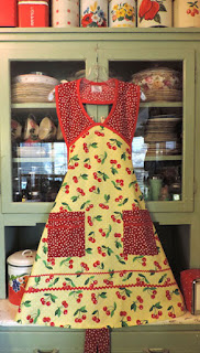 1940 Cherry polka dot apron