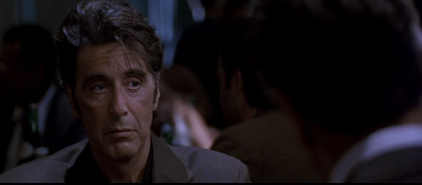 Al Pacino meets with Robert De Niro in Michael Mann's Heat.