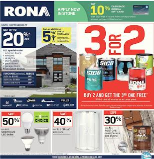Rona Flyer Home & Garden valid September 14 - 20, 2017