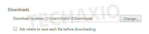 Downloads section