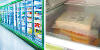 Etiketten für Tiefkühlwaren