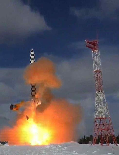 Teste do Satã-2 na base de Plesetsk. Foto: Ministério da Defesa da Rússia.