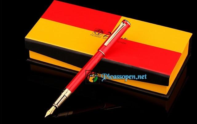 Bút máy Picasso 988 màu đỏ