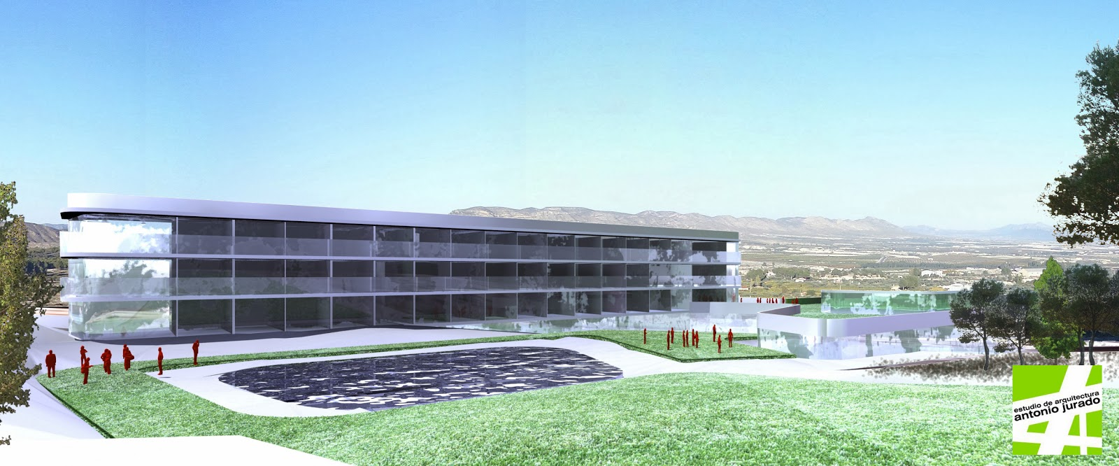 Residencia geri trica calasparra murcia estudio de for Arquitectura geriatrica
