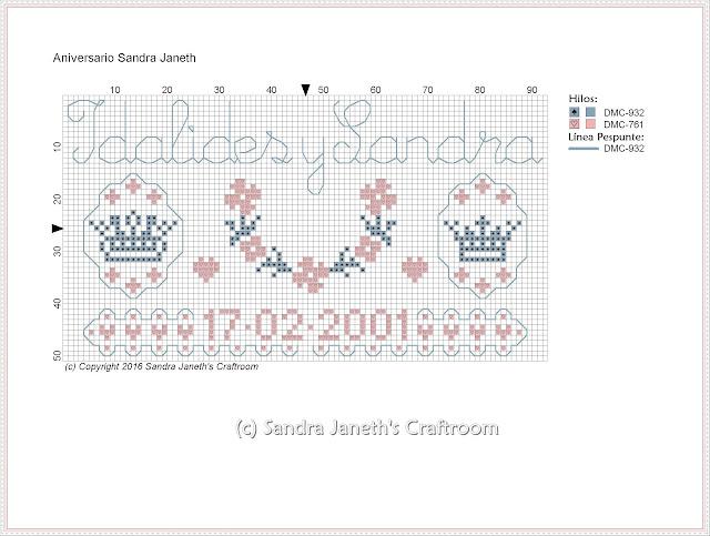 SJSC - Aniversario, Esquema Gratis, Punto de Cruz