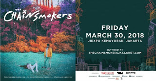 cari tiket event konser the chainsmokers di jiexpo kemayoran jakarta