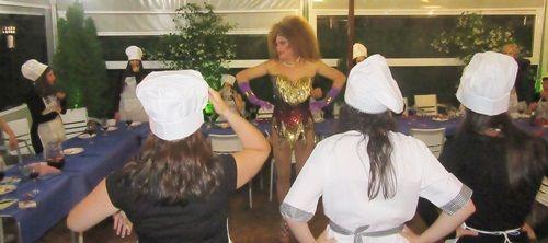 Espectáculo drag queen Gabrielle en Villa del prado para despedida de soltera