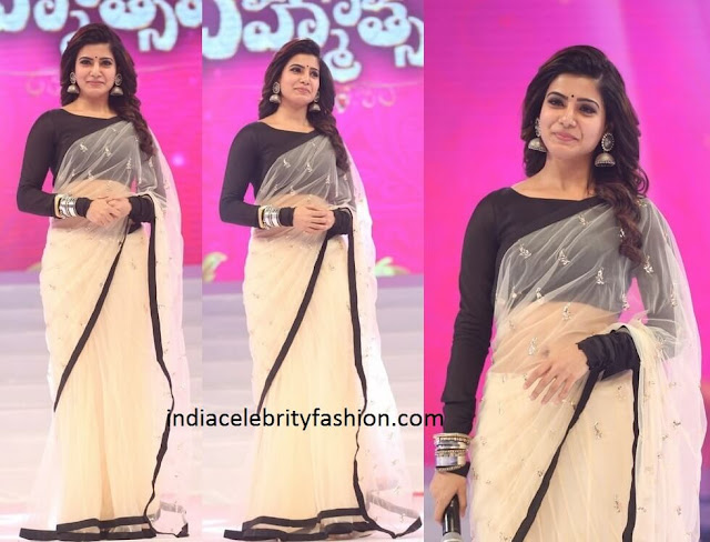 Samantha Prabhu in Payal Singhal Saree
