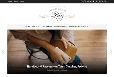 Lily Blogger Template