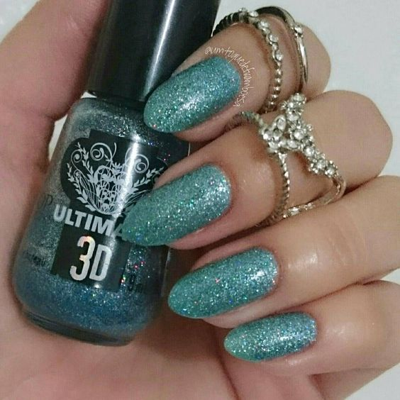 resenha e swatches esmalte Ultimate 3D Top Beauty Aurora Boreal